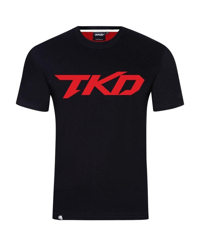 T-shirt Basic (Black - Red)