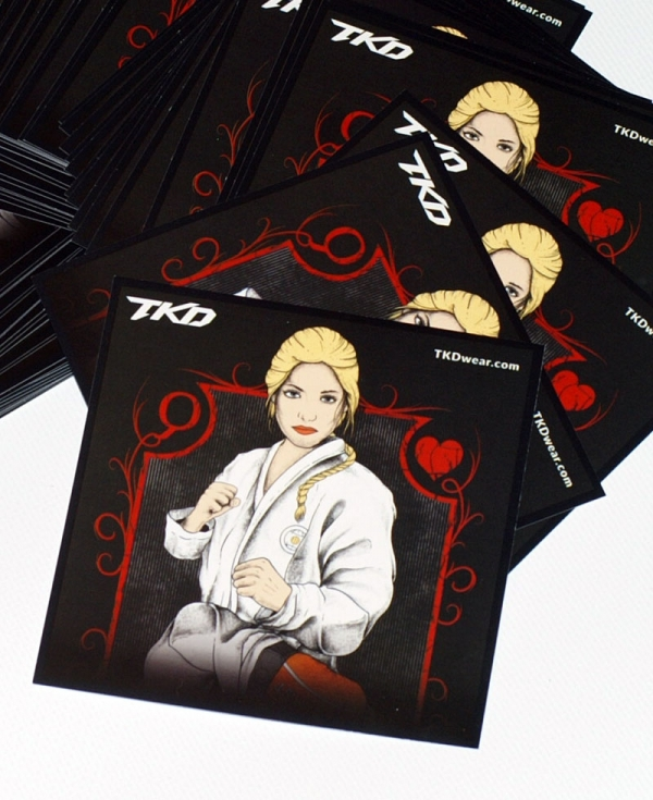 TKD Queen stickers