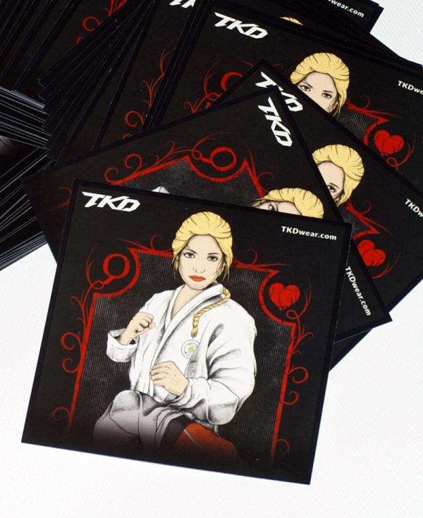 TKD Queen stickers