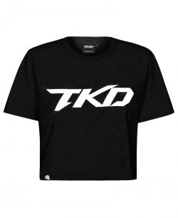 Koszulka TKD Crop top (Czarno - Biała)