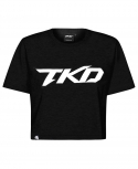 T-shirt TKD Crop top (Black)