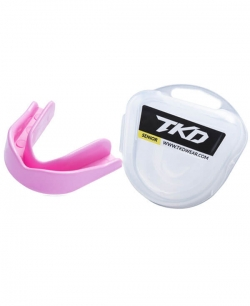 TKD Mouth Guard - baby pink (senior & junior size)