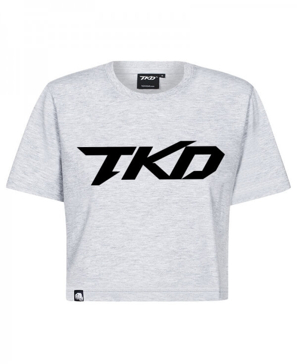 T-shirt TKD Crop top (Grey - Black)