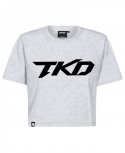 T-shirt TKD Crop top (Grey - Black)
