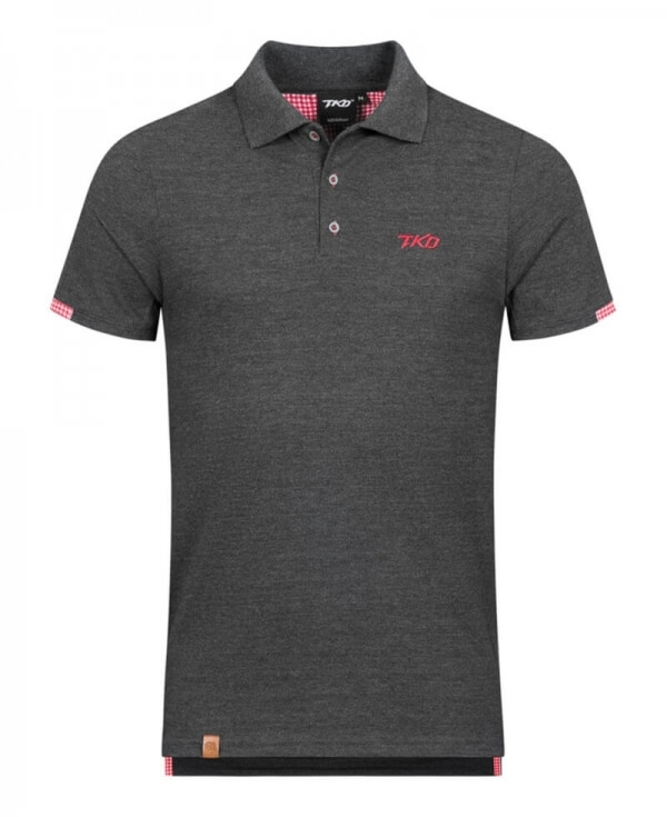 Polo Basic (Grey - Red)