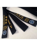 Black belt with embroidery