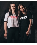Koszulka TKD Crop top (Szaro - Różowa)