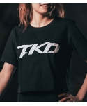 T-shirt TKD Crop top (Black - White)