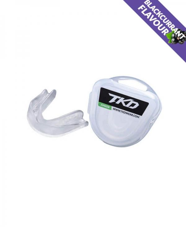 TKD Mouth Guard - transparent (blackcurrant flavour)