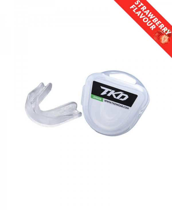 TKD Mouth Guard - transparent (strawberry flavour)