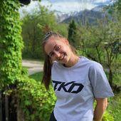 Bold, beautiful and talented Izzy Brider (@izzybridertkd ) in our crop top shirt! 💪  Doesn't she 👱♀ look gorgeous? 😍  🛍 We ship worldwide 📨🌎! www.TKDwear.com  #tkdwear #taekwondo #tkd #tkdshirts #taekwondofighter #fighter #training #trainingshirt #style #trainingday #taekwondogirl #taekwondogirls #kick #athlete #taekwondoshirt #taekwondoitf #taekwondowtf #itf #taekwondostyle #clothing #tkdstyle #tkdqueen